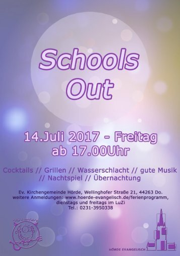 Anmeldung Schools Out A5