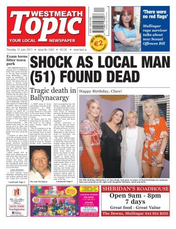 Westmeath Topic - 15 June 2017