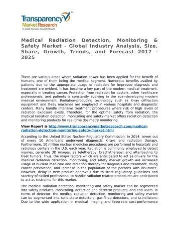 Medical Radiation Detection Monitoring Safety Market