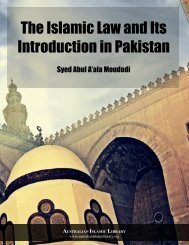 The Islamic Law and Its Introduction in Pakistan