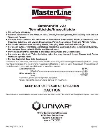 Masterline Bifenthrin 79 Label - Trovoadasonhos