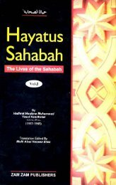 Hayatus Sahabah - The Lives of the Sahabah - Part 3