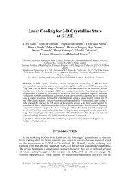 Laser Cooling for 3-D Crystalline State at S-LSR - BETACOOL home ...