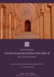 Mawlana Muhammad Sarfraz Khan Safdarr By Abu Asim Badrul Islam