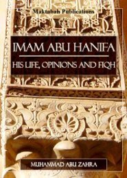 Imam Abu Hanifa - His Life, Opinions and Fiqh