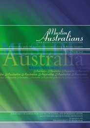 Muslim Australians - Religion Cultural Diversity Resource Manual