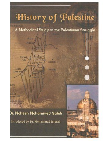 History of Palestine - A Methodical Study of the People of Palestine
