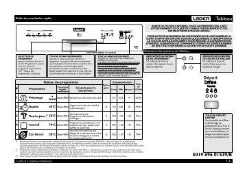 KitchenAid C 1011 NB - C 1011 NB FR (851000529330) Scheda programmi