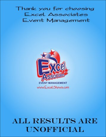 ALL RESULTS ARE UNOFFICIAL - Excel Associates