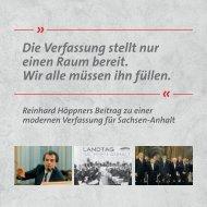 25 Jahre Landesverfassung Sachsen-Anhalt