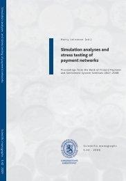 Simulation analyses and stress testing of payment ... - Suomen Pankki