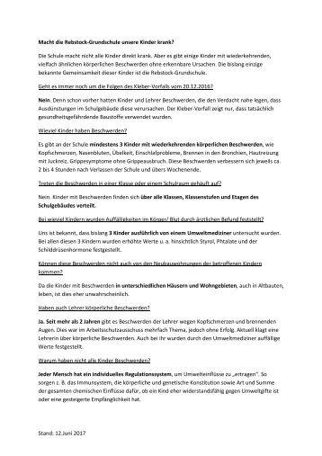 Giftstoffe Rebstockschule - Fragen und Antworten