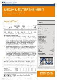 MEDIA & ENTERTAINMENT - WIGE Media AG