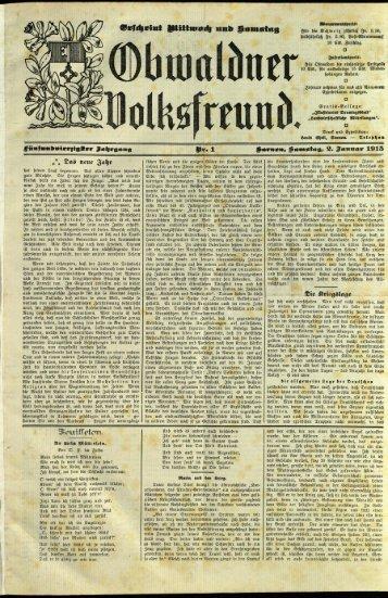 Obwaldner Volksfreund 1915