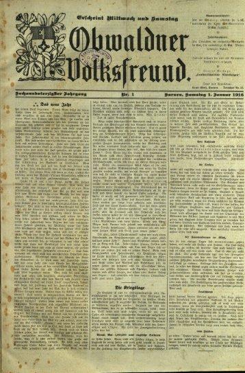 Obwaldner Volksfreund 1916