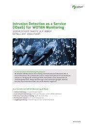 Intrusion Detection as a Service (IdaaS) für WOTAN Monitoring