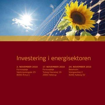 Investering i energisektoren - Formuepleje