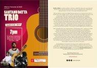 Invite : Santanu datta trio