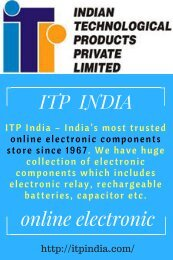 online electronic components store in India