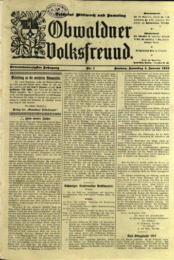 Obwaldner Volksfreund 1919