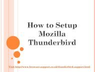 How to Set up Mozilla Thunderbird Mail Setup 1-800-358-0071
