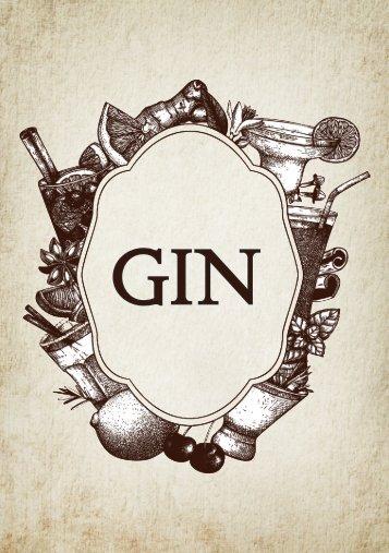 Widbrook Gin Menu