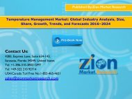 Global Temperature Management Market, 2016–2024