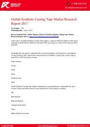 10846405-Global-Synthetic-Casting-Tape-Market-Research-Report-2017