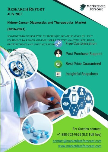 Kidney Cancer Diagnostics and Therapeutics  market is poised to reach USD 4.09 billion by 2021