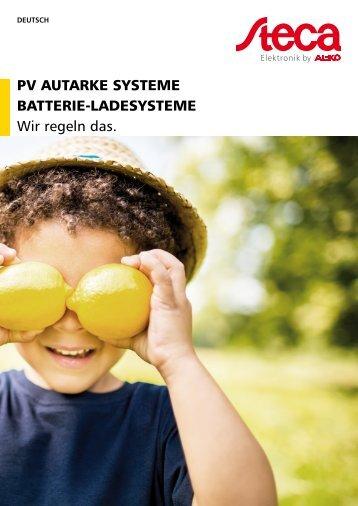 Steca Elektronik Katalog PV Off Grid (24|2017)