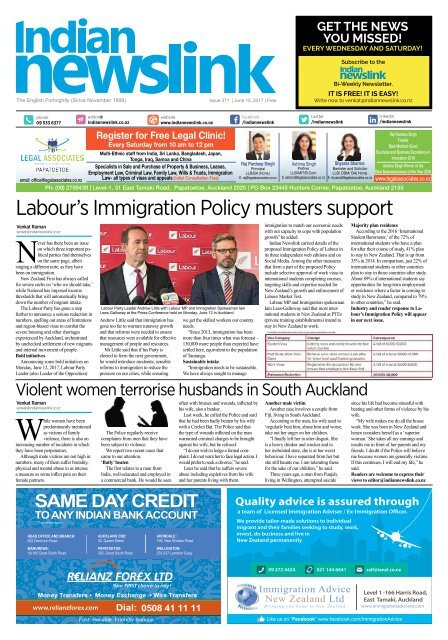 June 15 2017 Indian Newslink Digital Edition
