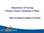 Pre-Admissions Orientation for the Nursing Program - Fall 2017