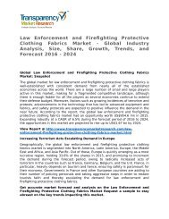 Law Enforcement and Firefighting Protective Clothing Fabrics Market Growth, Trends, and Forecast 2016 - 2024