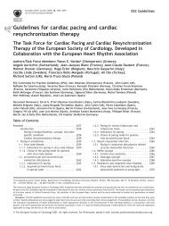 Guidelines for cardiac pacing and cardiac resynchronization therapy