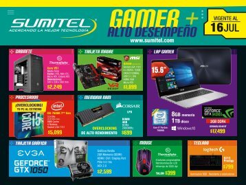Catálogo Tecnología Gamer SUMITEL Vig16jul17
