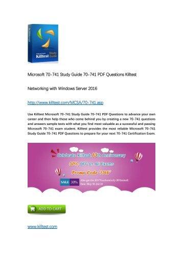 Killtest 70-741 Networking with Windows Server 2016 Practice Test