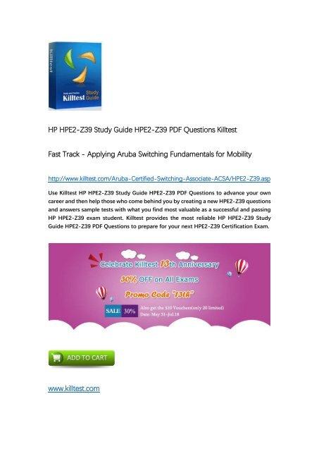 Killtest HPE2-Z39 Fast Track - Applying Aruba Switching