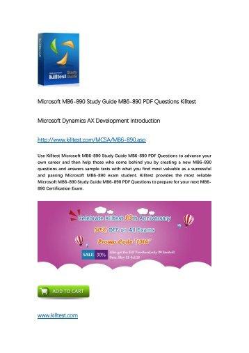 Killtest MB6-890 Microsoft Dynamics 365 for Customer Service Practice Test