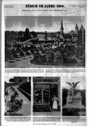 ZÜRICH IM JAHRE 1900 - Neue Zürcher Zeitung