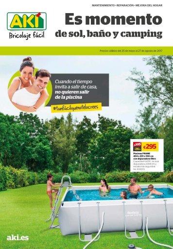 folleto AKÍ playa piscina hasta 27 de Agosto 2017