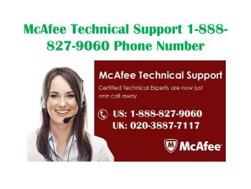 McAfee Technical Support 1-888-827-9060 Phone Number