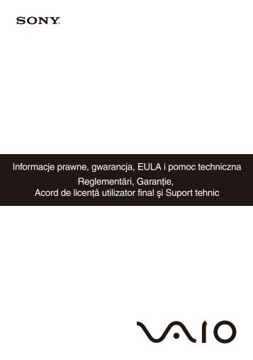 Sony VGN-NW11S - VGN-NW11S Documents de garantie Roumain