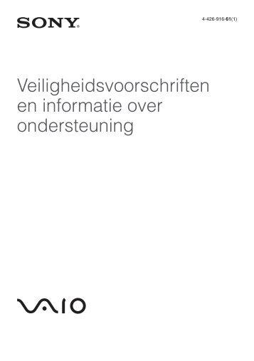 Sony SVS1311A4E - SVS1311A4E Documents de garantie Néerlandais