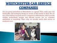 Westchester Car Service Companies