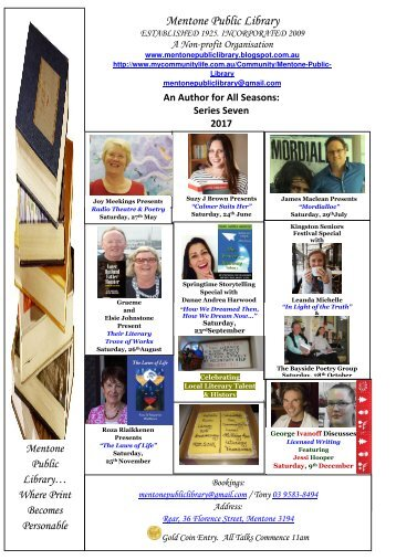 2017 MPL Author Talk Grid