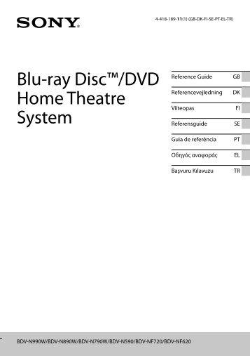 Sony BDV-N990W - BDV-N990W Guide de référence Turc