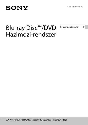 Sony BDV-N990W - BDV-N990W Guide de référence Hongrois