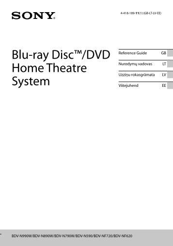 Sony BDV-N990W - BDV-N990W Guide de référence Estonien