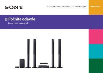 Sony BDV-N990W - BDV-N990W Guide de mise en route Serbe