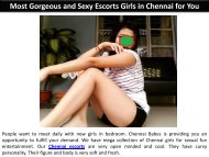 Most Gorgeous and Sexy Escorts Girls in Chennai for You